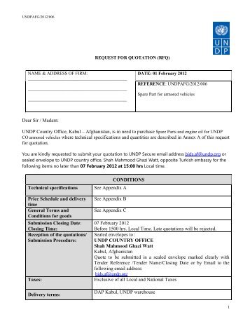 Request For Quotation Rfq Construction Of Information