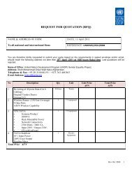 REQUEST FOR QUOTATION (RFQ) - UNDP Afghanistan