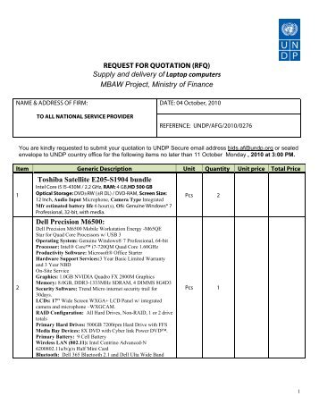 Request For Quotation (Rfq) Construction Of Information