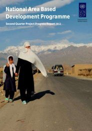 Progress Report Quarter 2 2012 - UNDP Afghanistan