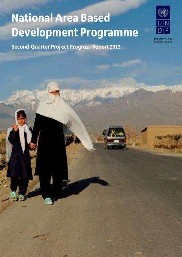 Progress Report Quarter 2 2012 - UNDP Afghanistan