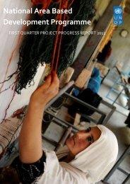 Progress Report Quarter 1 2012 - UNDP Afghanistan