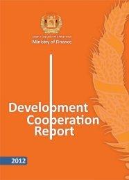 Development Cooperation Report 2012 - UNDP Afghanistan