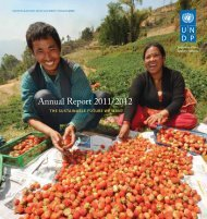 Annual Report 2011/2012 - United Nations Development Programme