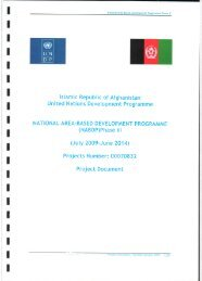 Phase III Project Document - UNDP Afghanistan