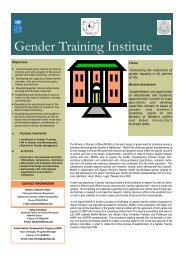 Gender Training Institute Brochure 2004 - UNDP Afghanistan