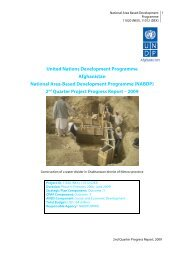 (NABDP) 2nd Quarter Project Progress Report – 2009 - UNDP ...