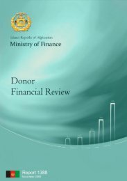 Donor Financial Review (DFR) - UNDP Afghanistan