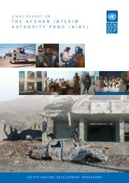 Final Report on the Afghan Interim Authority Fund (AIAF) - UNDP ...