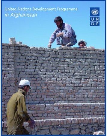 UNDP Afghanistan brochure 2005