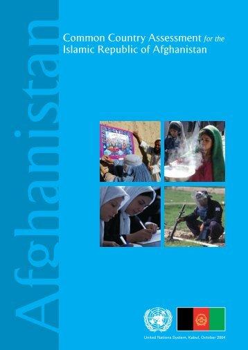 1 - UNDP Afghanistan