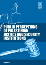 public perceptions of palestinian justice and security ... - UNDP