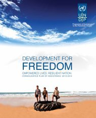 Development for Freedom Consolidated Plan of Assistance ... - UNDP