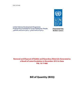 Annex iii bill of quantity unops bill of quantity boq undp thecheapjerseys Image collections