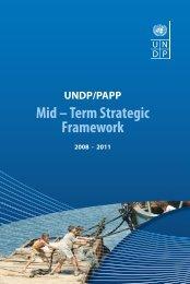UNDP/PAPP Strategic Framework 2008 - 2011