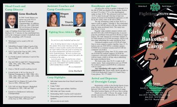 05 Fighting Sioux Women's Basketball Camps Brochure