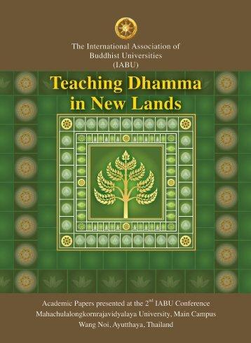 03 Teaching panel Preface.indd - United Nations Day of Vesak 2013