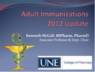Vaccination - University of New England