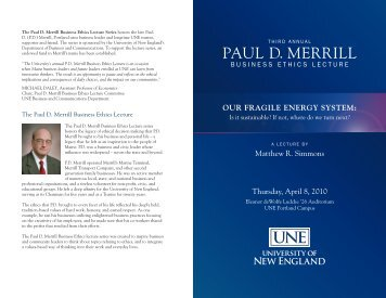 PAUL D. MERRILL - University of New England