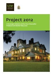 Project 2012 Discussion Paper - University of New England