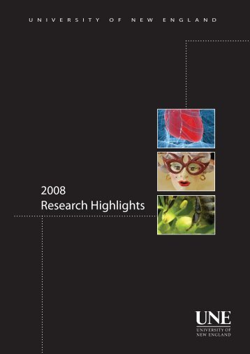 Research Highlights 2008 - University of New England
