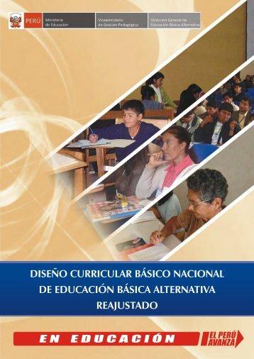 diseño curricular básico nacional de educación básica alternativa ...