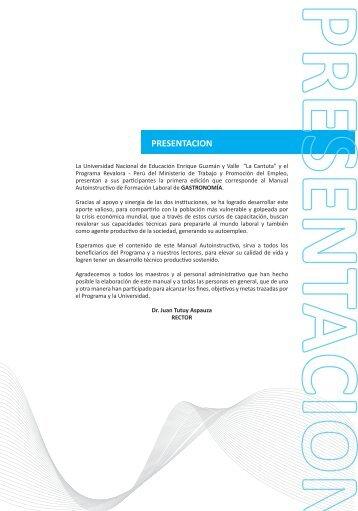 PRESENTACION - Universidad Nacional de Educación Enrique ...