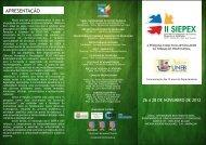 II SIEPEX Seminário Integrado de Ensino, Pesquisa e ... - Uneb