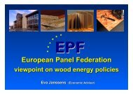 European Panel Federation - viewpoint on wood energy ... - UNECE