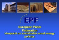 European panel Federation viewpoint on sustainable wood energy ...