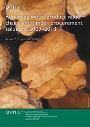 Renewing wood product value chains and timber procurement ...