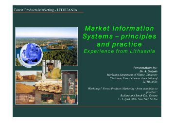 Market Information Systems – principles and practice - UNECE