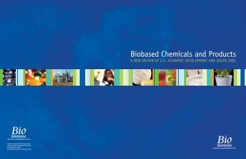 Biobased Chemicals and Products - Biotechnology Industry ...