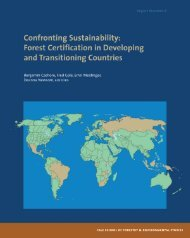 Forest Certification in Developing and Transitioning Countries