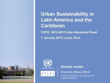 Urban Sustainability in Latin America and the Caribbean - Unctad