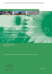 2009. EU Support for Biofuels and Bioenergy, Environmental ...