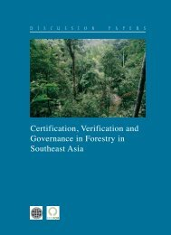 Certification, Verification and Governance in Forestry in ... - PROFOR