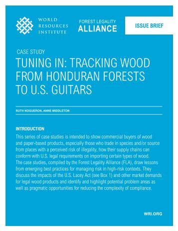 traCking Wood from Honduran forests to us guitars - Forest Legality ...