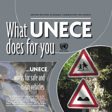 works for safe and clean vehicles - UNECE