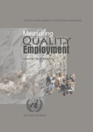 Measurement of Quality of Employment - UNECE