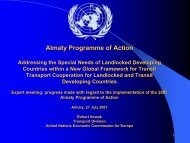 Almaty Programme of Action - UNECE