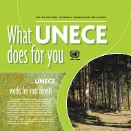 works for your forests - UNECE