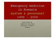 Emergency medicine in Romania system & personnel ... - UNECE