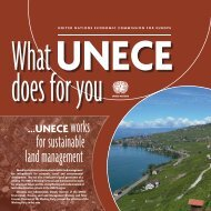 for sustainable land management - UNECE