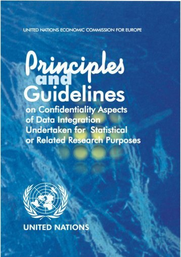 Principles and Guidelines on Confidentiality Aspects of ... - UNECE