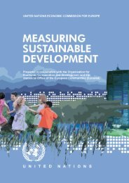 Measuring Sustainable Development - UNECE