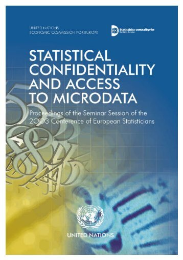 Statistical Confidentiality and Access to Microdata - UNECE