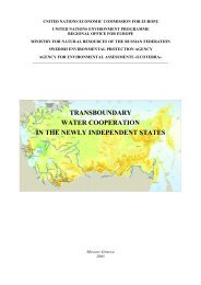 transboundary water cooperation in the newly ... - UNECE