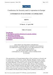 Conference for Security and Co-operation in Europe - UNECE