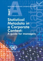 Statistical Metadata in a Corporate Context - UNECE